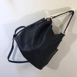Black vegan cross body/hobo bag